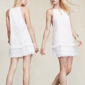 Reformation White Linen Mini Halter Dress | XS
